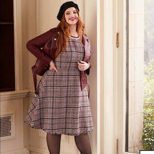 NWT ELOQUII Tweed Fit and Flair Dress Size 16
